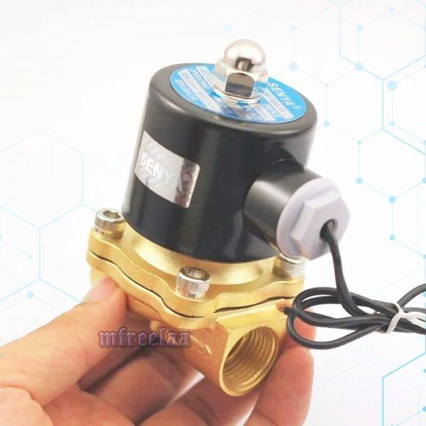 Válvula Selenoide De Bronce 110120 Vac 12 Aire Y Agua